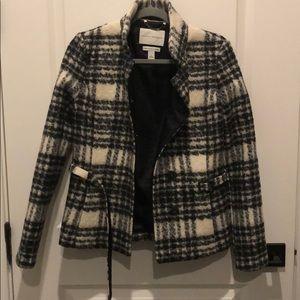 Banana Republic black and white wool jacket